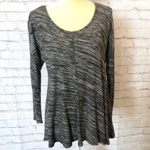Cynthia Rowley grey long sleeve blouse